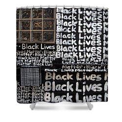 Black Lives Matter Wall Part 1 Of 9 Shower Curtain