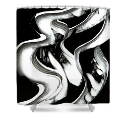 Black Magic Inverted Shower Curtain by Sharon Cummings