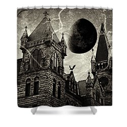 Black Moons Rising Shower Curtain