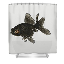 Black Moor Shower Curtain