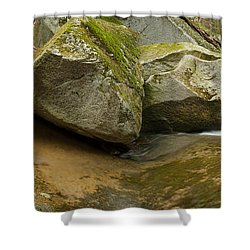 Black Mountain Pano Shower Curtain