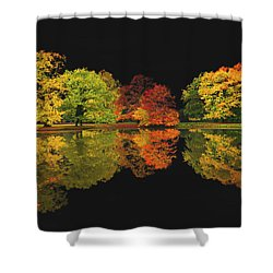 Black Muse Shower Curtain