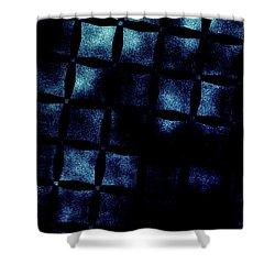 Black N Blue Burn Shower Curtain