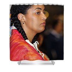 Black Native Shower Curtain