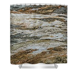 Shower Curtain featuring the photograph Black Obsidian Sand And Other Textures by Sue Smith