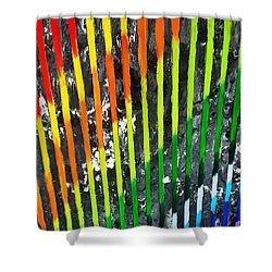 Black Rainbow Shower Curtain