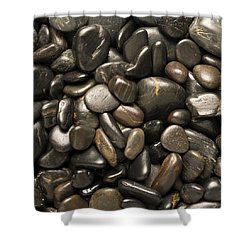 Black River Stones Square Shower Curtain by Steve Gadomski
