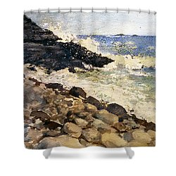 Black Rocks - Lake Superior Shower Curtain