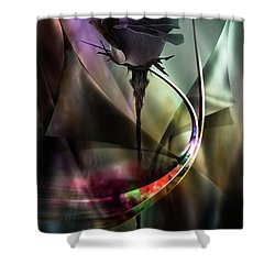 Black Rose In Color Symphony Shower Curtain