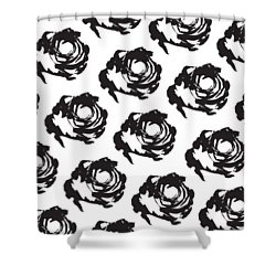 Black Rose Pattern Shower Curtain