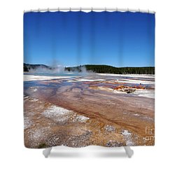 Black Sand Basin In Yellowstone National Park Shower Curtain by Louise Heusinkveld