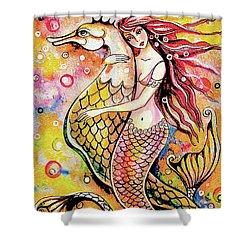 Black Sea Mermaid Shower Curtain