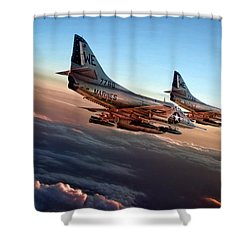 Black Sheep Skyhawks Shower Curtain