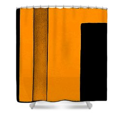 Black Space Shower Curtain