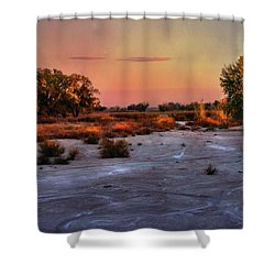 Shower Curtain featuring the photograph Black Squirrel Creek Fall Scape by Ellen Heaverlo