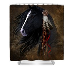 Black Stallion  Shower Curtain
