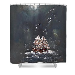 Black Storm Shower Curtain