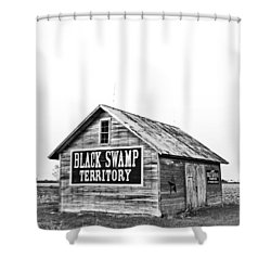 Black Swamp Territory Shower Curtain by Andrew Weills