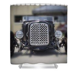 Black T-bucket Shower Curtain