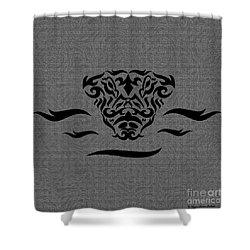 Shower Curtain featuring the digital art Black Tribal Gator by Megan Dirsa-DuBois