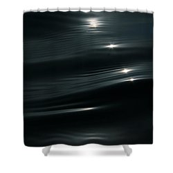 Black Velvet Shower Curtain by Cathie Douglas