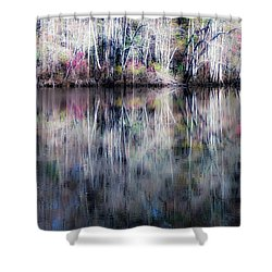 Black Water Fantasy Shower Curtain