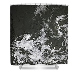 Black Water Marble  Shower Curtain