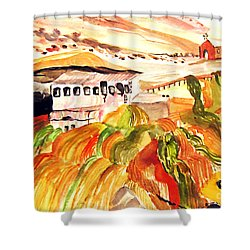 Black Waters Of The Andes Shower Curtain