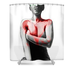Black Xoxo Shower Curtain