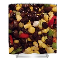 Blackbean Salad Shower Curtain by Don Koester