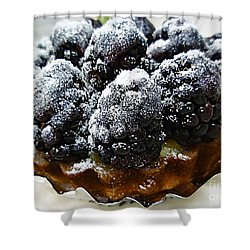 Blackberry Tart Shower Curtain by Renee Trenholm
