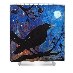 Blackbird Singing Shower Curtain by Robin Maria Pedrero