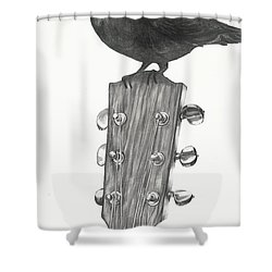 Blackbird Solo  Shower Curtain