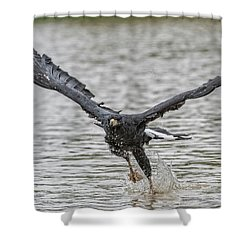 Blackhawk Fishing #2 Shower Curtain by Wade Aiken