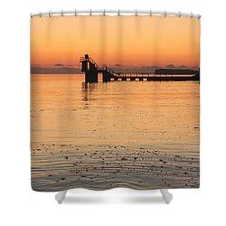 Blackrock Sunset Shower Curtain