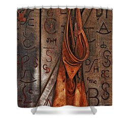 Blacksmith Apron Shower Curtain