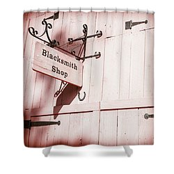 Shower Curtain featuring the photograph Blacksmith Shop by Alexey Stiop
