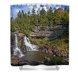 Blackwater Falls  In Autumn 3879c Shower Curtain