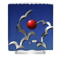 Shower Curtain featuring the photograph Blades And Ball by Christopher McKenzie