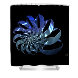 Shower Curtain featuring the digital art Blades by Manny Lorenzo