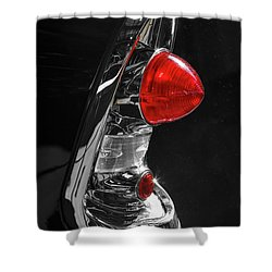 Shower Curtain featuring the photograph Black '56 by Dennis Hedberg