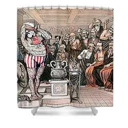 Blaine Cartoon, 1884 Shower Curtain by Granger