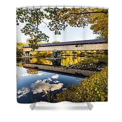 Shower Curtain featuring the photograph Blair Bridge by Anthony Baatz
