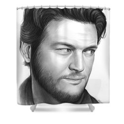 Blake Shelton Shower Curtain