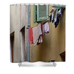 Shower Curtain featuring the photograph Blanchisserie by Rasma Bertz