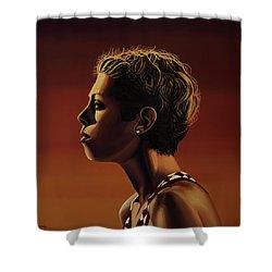 Blanka Vlasic Painting Shower Curtain by Paul Meijering
