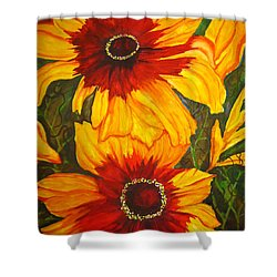 Blanket Flower Shower Curtain by Lil Taylor