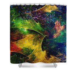 Shower Curtain featuring the digital art Blanket Of Stars by Klara Acel
