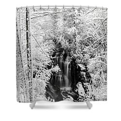 Blanket Of White Shower Curtain by Deborah Scannell
