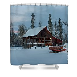 Blanketed Shower Curtain